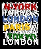 Typographie de vecteur de conception New York 02 pour le T-shirt illustration de vecteur