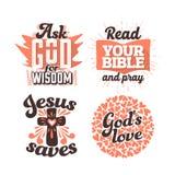 Typographie et lettrage chrétiens Illustrations des expressions bibliques illustration libre de droits