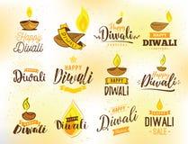 Typographie heureuse de Diwali Photos libres de droits