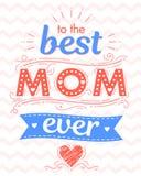 Typographie heureuse de jour de mères Images stock