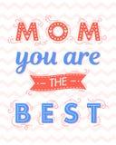 Typographie heureuse de jour de mères Photos stock