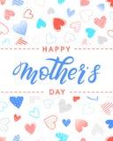 Typographie heureuse de jour de mères Photos libres de droits