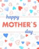 Typographie heureuse de jour de mères Photographie stock libre de droits
