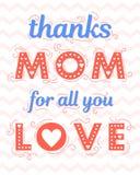 Typographie heureuse de jour de mères Images libres de droits