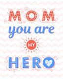 Typographie heureuse de jour de mères Image stock