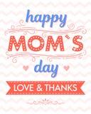 Typographie heureuse de jour de mères Photo libre de droits