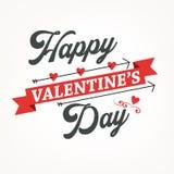 Typographie heureuse de jour de valentines Conception de vecteur Tiré par la main Images stock