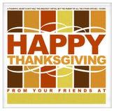 Typographie heureuse de thanksgiving Images libres de droits