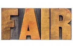 Typographie juste de mot images libres de droits