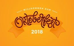 Typographie manuscrite d'Oktoberfest Conception de vecteur de lettrage d'Oktoberfest pour les cartes de voeux et l'affiche Vecteu illustration libre de droits