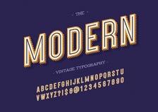 Typographie moderne de vintage illustration libre de droits