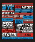 Typographie New York City, Illustration Libre de Droits