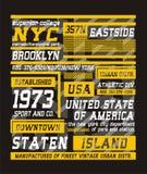 02 typographie New York City, vecteur Illustration de Vecteur