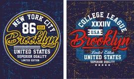 Typographie New York City, vecteur de vintage Illustration Stock
