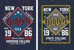 Typographie New York, vecteur de vintage Illustration Libre de Droits