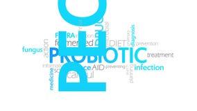 Typographie Probiotic et animée illustration libre de droits