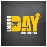 Typographie simple de Fête du travail heureuse sur Grey Background illustration libre de droits