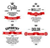 Typographique avec le ruban Photographie stock