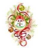 Typographique du fond avec des éléments de Noël photo stock