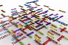 typography маркетинга Стоковая Фотография RF