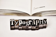 Typography. Made from metal letters royalty free stock images