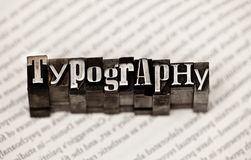 Typography Royalty Free Stock Photography