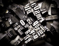 Typography. Made from metal letters royalty free stock photo