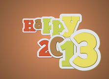 Typography 2013 do ano novo feliz Foto de Stock Royalty Free