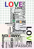 Typography. Design and typography background (love Royalty Free Stock Photography