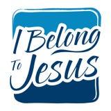 Typography Art Saying I Belong To Jesus Royalty Free Stock Photo