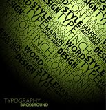 Typography background Stock Photo