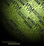 Typography background Stock Photo