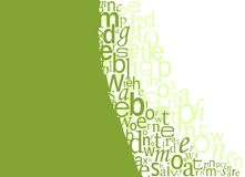 Typography Background. Green Typography Background with space for your text Stock Image