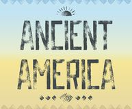 Typography background Ancient America Royalty Free Stock Photo