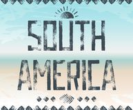Typography background South America Stock Photography