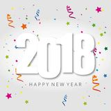 2018 typography banner with star and white background. For web design and application interface, also useful for infographics. Vector illustration Royalty Free Stock Image