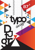 Typography Brochure design. In  also can be used as book cover or magazine Stock Photo