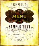 Typography, calligraphic design elements, page Royalty Free Stock Photos