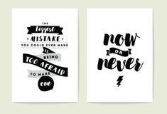 Typography cards set. stock illustration