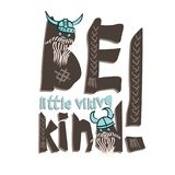 Typography children viking theme slogan or poster on white background Funny scandinavian style design. For t shirt, textile,fabric printing, embroidery, graphic Royalty Free Stock Image