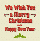 Typography Christmas Greeting Card Stock Photography