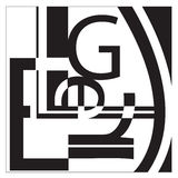 Typography Collage. A typography collage in the style of Leger.  includes the letters L-E-G-R. It just looks like random letters laid out in an interesting way Royalty Free Stock Images