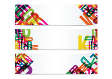 Typography colorful banner header background. Vector eps 10 Stock Image
