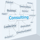 Typography Consulting. Consulting typo ,righting on the wall concept vector illustration