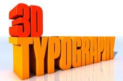 Typography Stock Photos