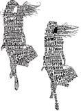 Typography das meninas da forma Imagens de Stock