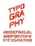 TYPOGRAPHY Design font for you. Royalty Free Stock Image