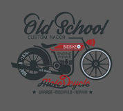 Typography design motor cycle classic. Recommended to load the  to be beautiful Stock Photography