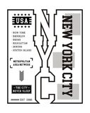 Typography New York City T-shirt Graphic Vector. Typography Design New York City Black and white, T-shirt Graphic Vector Image Royalty Free Stock Image