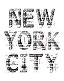 New York City Grunge t-shirt graphic vector. Typography design New York City grunge t-shirt graphic background white, vector image Royalty Free Stock Photos